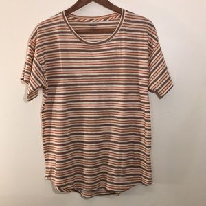 Madewell Striped Tee Shirt Size Large